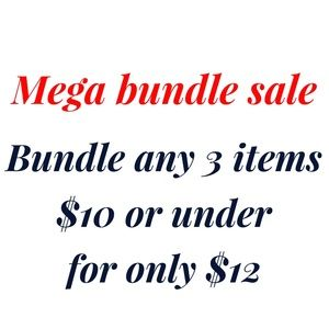 Bundle 3 items for only $12
